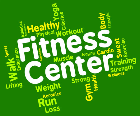 aktywność fizyczna: Centrum fitness Pokazuje aktywności fizycznej i tekst