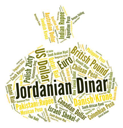 dinar: Jordanian Dinar Indicating Foreign Exchange And Market Stock Photo