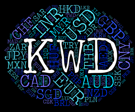 Kwd Currency Representing Exchange Rate And Foreign