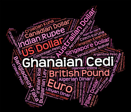 foreign currency: Ghanaian Cedi Representing Foreign Currency And Ghs