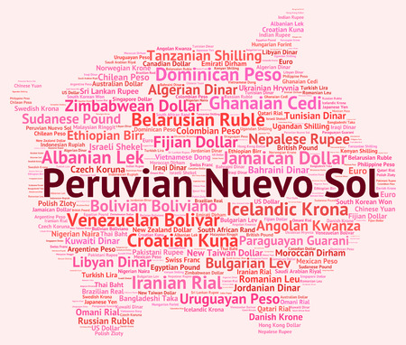 sol: Peruvian Nuevo Sol Representing Worldwide Trading And Exchange