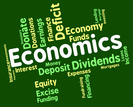 economical: Economics Word Meaning Monetary Economical And Finance Stock Photo
