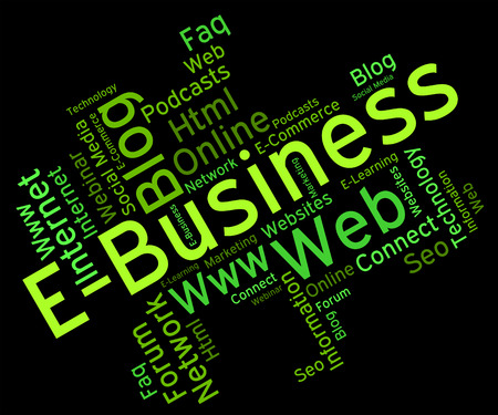 ebusiness: Ebusiness Word Showing World Wide Web And Website Searching