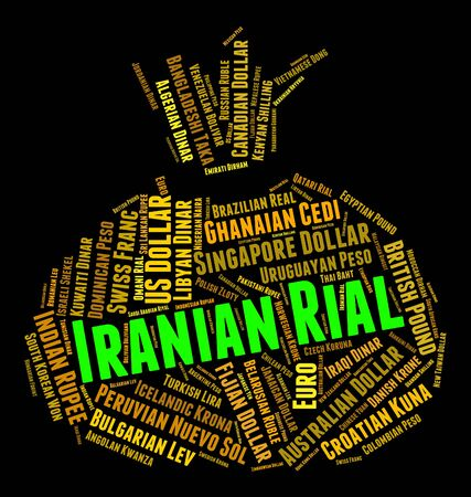 Iranian Rial Representing Forex Trading And Exchange Stock Photo