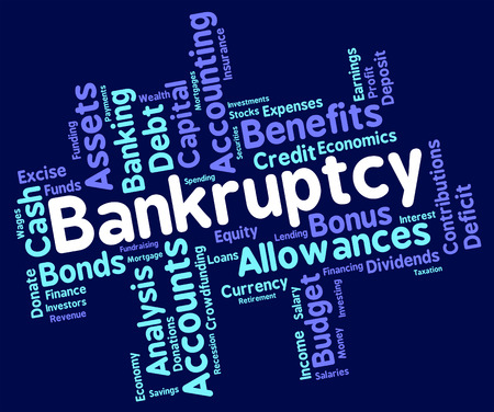 destitute: Bankruptcy Word Meaning Bad Debt And Wordcloud