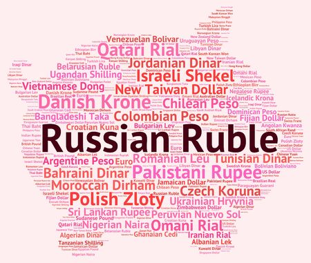 foreign currency: Russian Ruble Representing Foreign Currency And Exchange