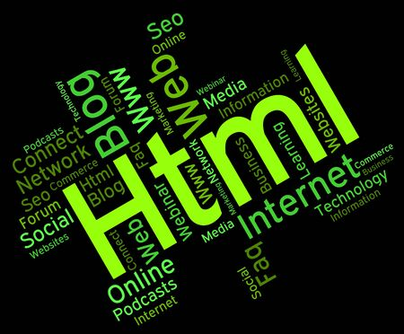 hypertext: Html Word Meaning Hypertext Markup Language And Hypertext Markup Language