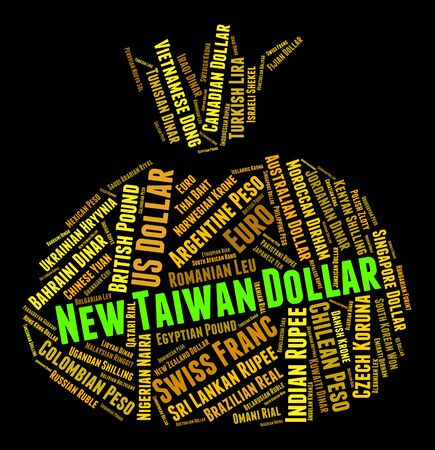 coinage: New Taiwan Dollar Representing Worldwide Trading And Banknotes