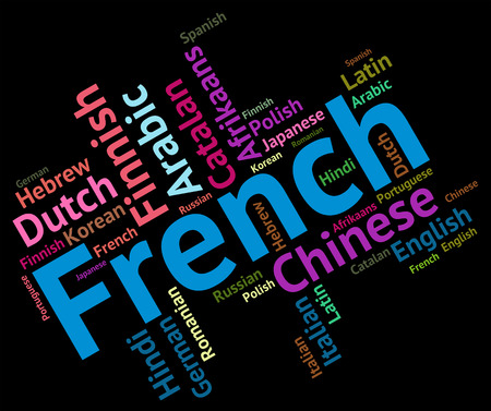 dialect: French Language Showing Languages Dialect And Text Stock Photo