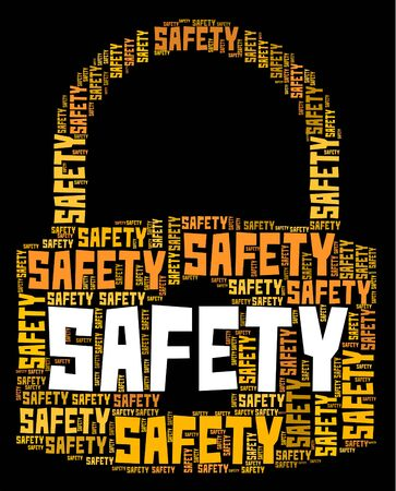 safety lock: Safety Lock Meaning Danger Wordcloud And Words Stock Photo