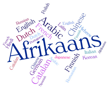 lingo: Afrikaans Language Representing Words Word And Lingo