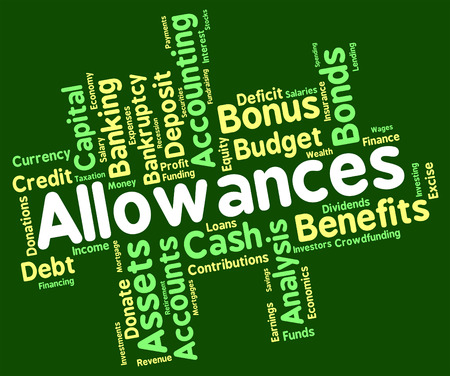 perk: Allowances Word Meaning Pay Text And Allowed