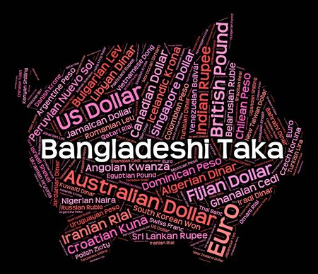 coinage: Bangladeshi Taka Showing Exchange Rate And Coinage