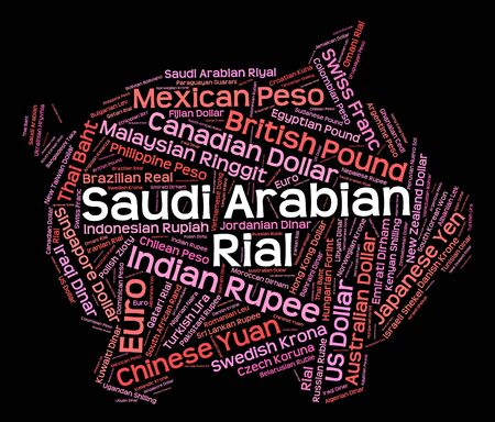 forex trading: Saudi Arabian Riyal Indicating Forex Trading And Broker Stock Photo
