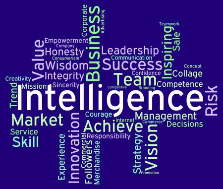 perception: Intelligence Words Indicating Perceptiveness Perception And Acumen Stock Photo