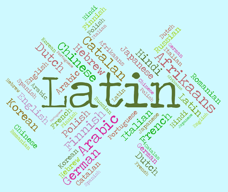latin language: Latin Language Indicating Dialect Lingo And Translator