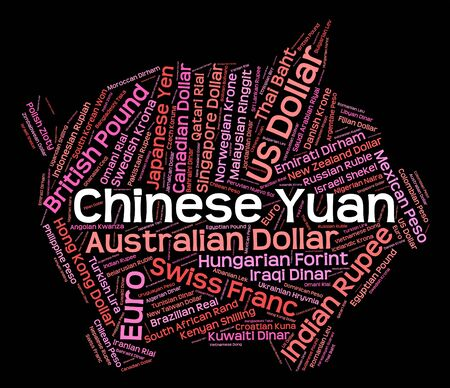 exchange rate: Chinese Yuan Representing Exchange Rate And Broker Stock Photo