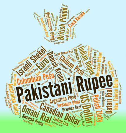 foreign exchange: Pakistani Rupee Indicating Foreign Exchange And Banknotes