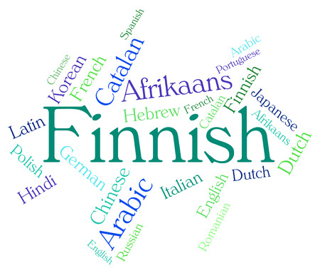 lingo: Finnish Language Showing Word Text And Finland Stock Photo