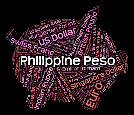 peso: Philippine Peso Indicating Foreign Currency And Php