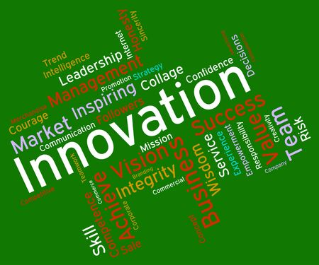conception: Innovation Words Representing Creative Conception And Innovates