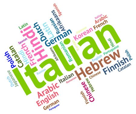 dialect: Italian Language Representing Communication Translate And Foreign