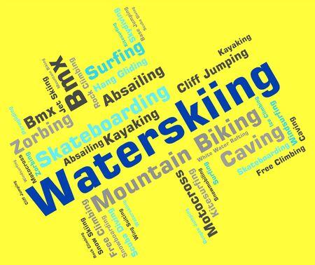 water skier: Waterskiing Word Meaning Wordcloud Text And Waterskiers