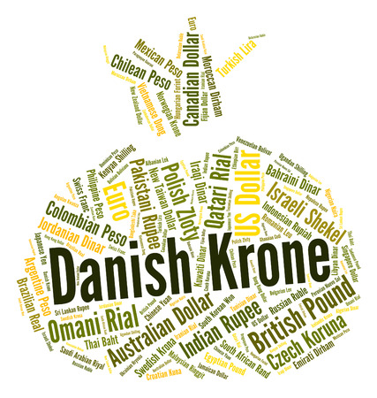 forex trading: Danish Krone Meaning Forex Trading And Words Stock Photo