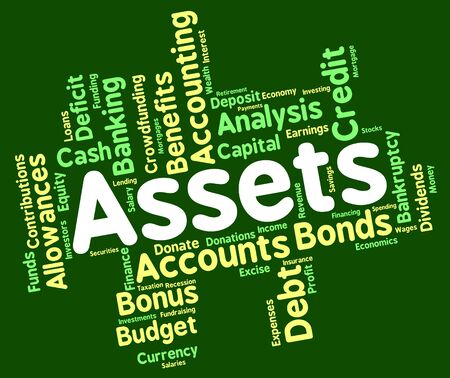 owned: Assets Words Showing Estate Owned And Effects