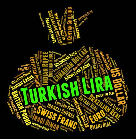 turkish lira: Turkish Lira Meaning Exchange Rate And Currencies Stock Photo