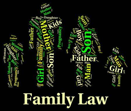 jurisprudencia: Derecho de Familia Mostrando Relaci�n sangre y Jurisprudencia Foto de archivo