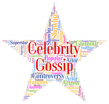 Chatter: Celebrity Gossip Representing Spreading Rumours And Rumor