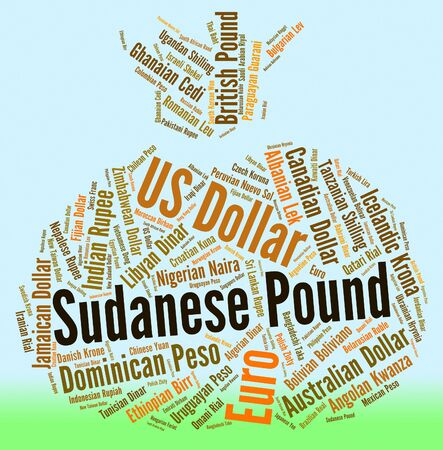 fx: Sudanese Pound Representing Currency Exchange And Fx Stock Photo