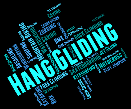 glide: Hang Gliding Meaning Glider Hang-Glider And Word