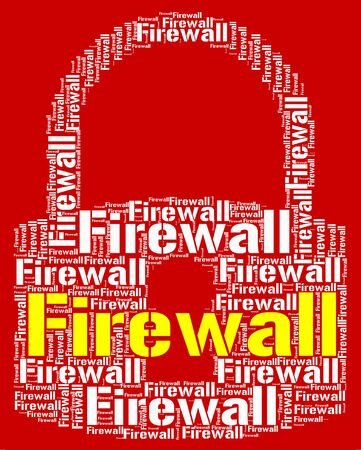 no access: Firewall Lock Representing No Access And Defence