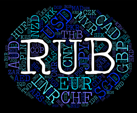 to rub: Rub Currency Meaning Russian Rubles And Coin Stock Photo