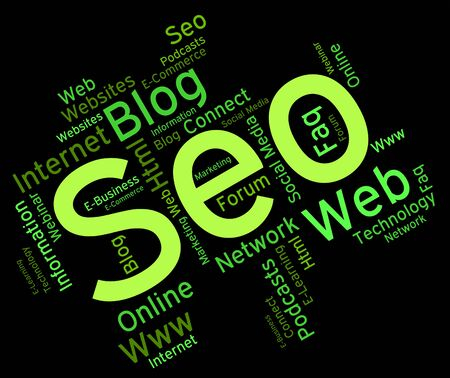 optimized: Seo Word Showing Online Websites And Engine