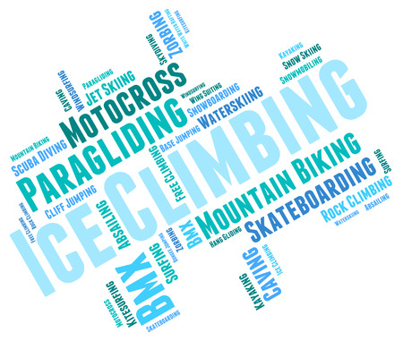 alpinist: Ice Climbing Meaning Wordcloud Climber And Ice-Climber