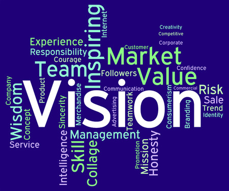 Vision Word Representing Goals Plan And Objective