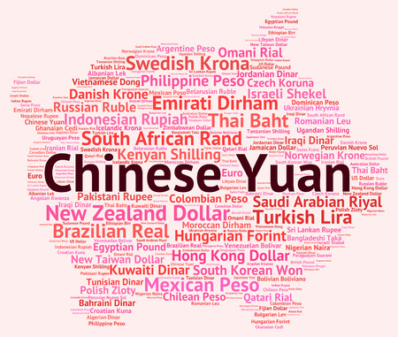 yuan: Chinese Yuan Representing Worldwide Trading And Currencies Stock Photo