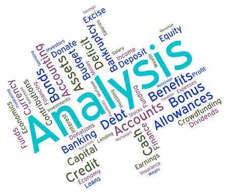 Analysis Word Representing Data Analytics And Analyzing Banco de Imagens - 41880804