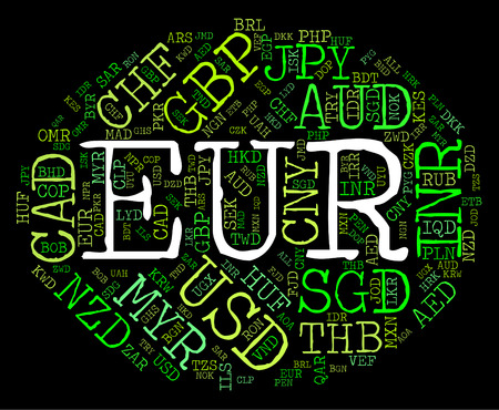 Euro Currency Representing Worldwide Trading And Forex