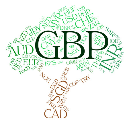 gbp: Gbp Currency Showing Great British Pound And Forex Trading Stock Photo