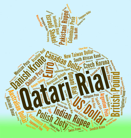 fx: Qatari Rial Showing Forex Trading And Fx