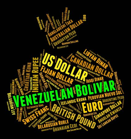 venezuelan: Venezuelan Bolivar Indicating Forex Trading And Foreign