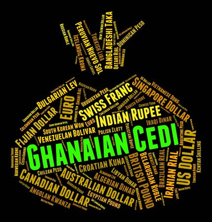 foreign currency: Ghanaian Cedi Meaning Foreign Currency And Coin Stock Photo
