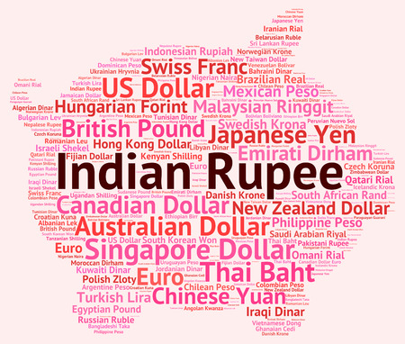forex trading: Indian Rupee Meaning Forex Trading And Banknotes Stock Photo