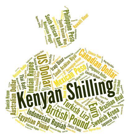 shilling: Kenyan Shilling Showing Worldwide Trading And Exchange