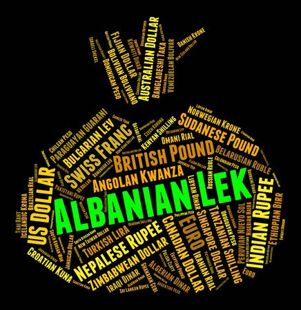 albanian: Albanian Lek Showing Currency Exchange And All