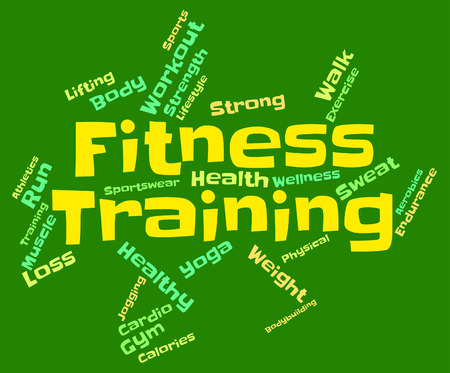 get a workout: Fitness Training Showing Working Out And Workout